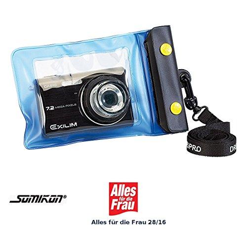 Somikon Kamera Wasserschutzhülle: Unterwasser-Kameratasche L mit Objektivführung Ø 38 mm (wasserdichte Kamera Hülle)