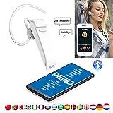 JINLO Wireless Bluetooth Headset Auriculares Traducción Voz En Tiempo Real Traductores Alta Fidelida...