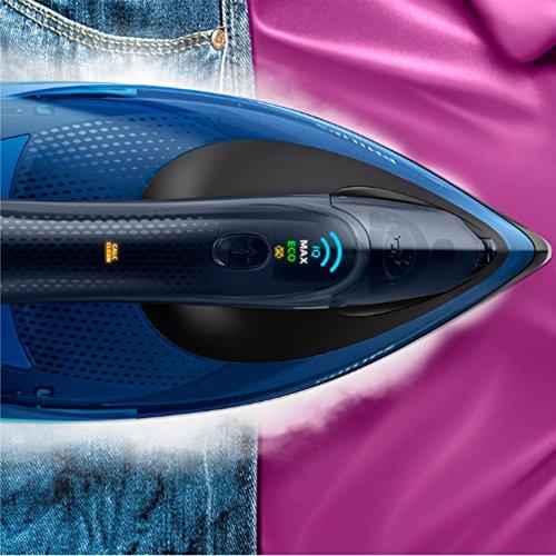 Philips Fer Vapeur avec Technologie OptimalTEMP GC5031/20 Repasser, 2400 W, Noir, Bleu