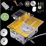Tischkreissäge Holzbearbeitung DIY Modellschneidemaschine Mini Tischkreissäge DIY Modellschneidemaschine mit B12 Chuck Elektrische Poliermaschine, Silber, 110-240V