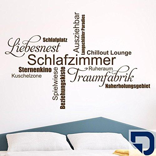 DESIGNSCAPE® Wandtattoo Schlafzimmer Wortwolke 160 x 108 cm (Breite x Höhe) königsblau DW803298-L-F13