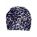 UKKD Sombrero Sombrero y Arcos bebé Turbante Casquillo Madre Muchacha del Muchacho Carcasa Casquillo del Padre-niño del algodón Leopard Vestido de la Cabeza del Sombrero de la,recogepelotas Brown