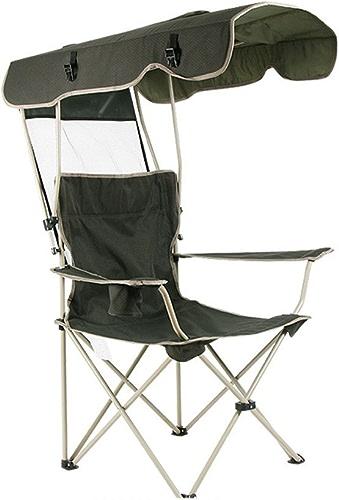 RFVBNM Chaise pliante portative extérieure de prougeection solaire de chaise de pêche