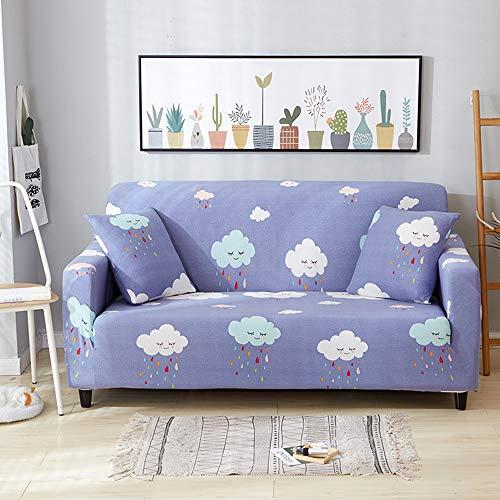 OEAK Sofabezug Sofaüberwürfe Elastisch Sofahusse Stretch Sofa Abdeckung Hussen mit Blumendrucken für Sofa Couchbezug Sesselbezug 1-4 Sitzer