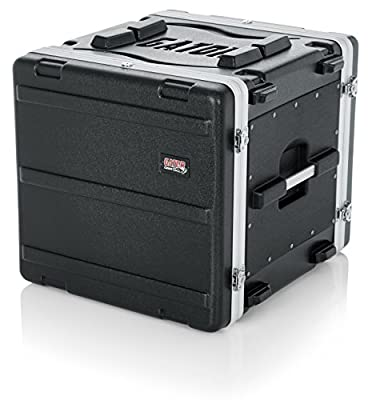 Gator Molded PE 10U 19.25 inch Deep Rack Case with Front / Rear Rails and Locking