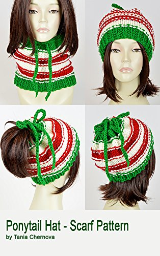 Christmas Hat Pattern Ponytail Hat With Hole Santa Claus Knit Hat Christmas Scarf Pattern Knit Beanie Pattern Hole Hat Ponytail Beanie With Hole Knit Santa Hat Xmas Christmas Beanie (English Edition)