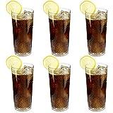mikken - 6 x bruchfestes Softdrinkglas 350 ml, Longdrinkglas, Saftglas, Wassergläser Set aus hochwertigem Kunststoff Gläser für Camping, Partys (wie echtes Glas)