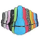 HOT SEAL Waterproof Durable Colorful Ukulele Case Bag with Storage (23/24in, black)
