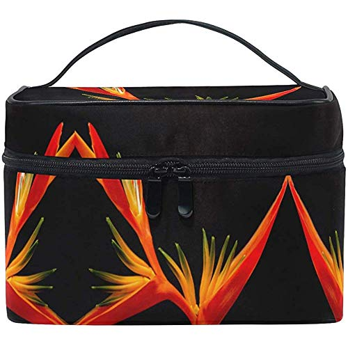 Trousse de Maquillage Red Birds of Paradise Travel Cosmetic Bags Organizer Train Case Toiletry Make Up