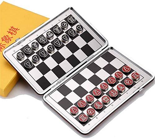 YZ-YUAN Juegos Casuales Accesorios para el hogar Tablero de ajedrez Juego de ajedrez de Viaje con Tablero de ajedrez Plegable Juguetes educativos para niños y Adultos (Tamaño del Color: 22.5cmx28.5c