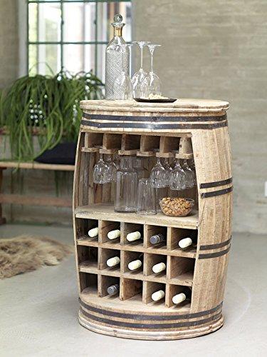 Canett Furniture Crazy Weinfass Weinregal Aus Holz Flaschenregal Fass Tisch/Bartisch/Theke, Holz,...