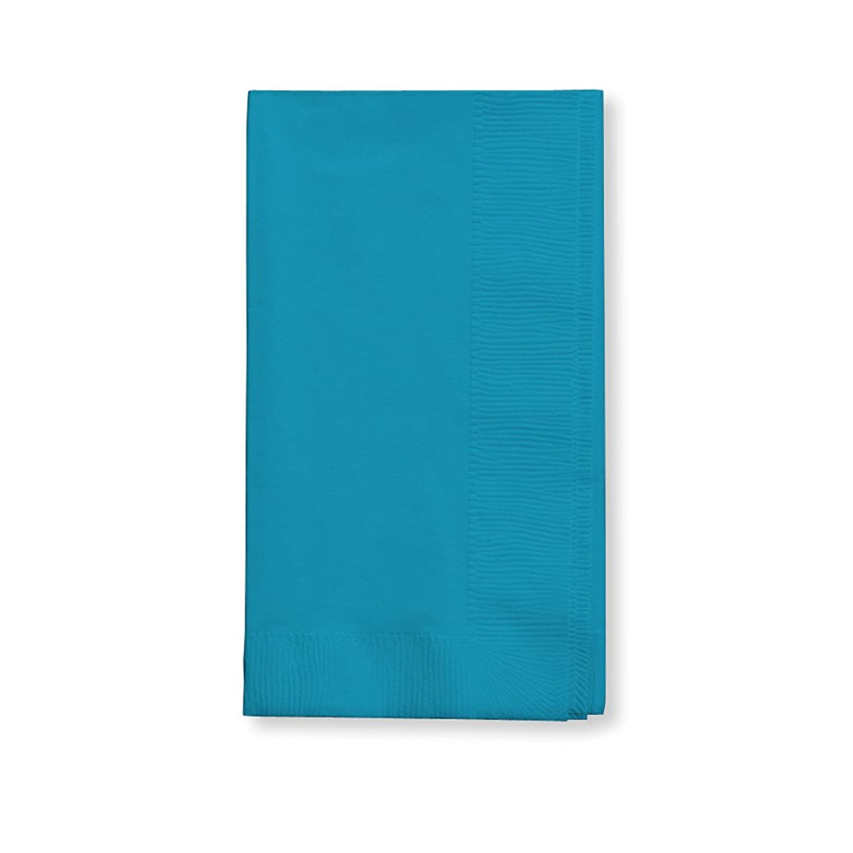 Creative Converting Touch of Color 2-Ply 50 Count Paper Dinner Napkins, Turquoise