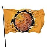Bandera de jardín Patio al aire libre con ojales de latón pintura salpicaduras abstracta naranja mosca bandera interior decoración del hogar