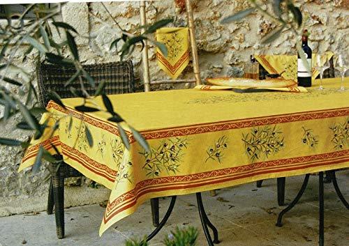 Provencetischdecke, Teflon-beschichtet, enduit, abwischbar, Maussane Gelb-Cotto, ca. 250x155 cm, von Provencestoffe