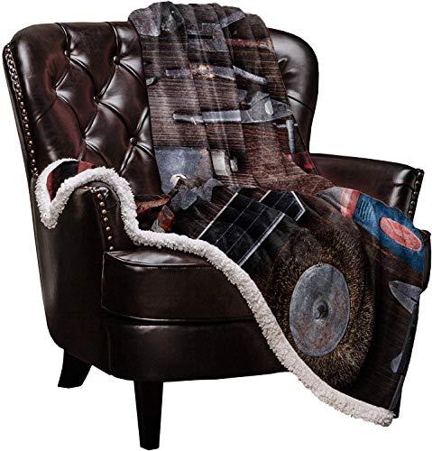 Kuscheldecke Wohndecken Retro 3D Carpenter 's Toolss Pattern Decke Decke Wurf Teppich weicher Fuzzy Extra warme Decken, reversible gemütliche Decke Decke Wurf Teppich