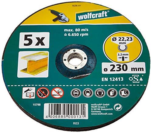 Wolfcraft 1626300 Trennscheiben für Metall, gekröpft Ø 230 x 2, 5 x 22, 2