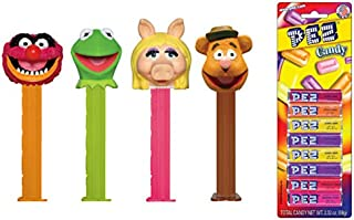 PEZ Muppets Dispensers and Candy Set (Bundle of 5 Items) - 5 Muppets Dispensers and a Pack of 8 PEZ Candy Refills