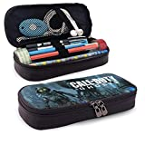 Leather Pencil Case Call Zombie Duty Pencil Boxes for Girls Boys Pencil Bag Kids School Pouch Waterproof