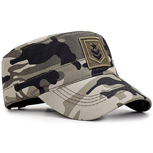 ChayChax Yooeen Military Army Cap Herren Vintage Militär Mütze Verstellbar Armymütze Baumwolle Baseball Cap Kappe mit Gute Qualität Stickerei Kopfumfang 56-62 cm