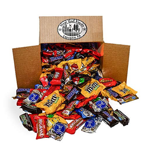 Chocolate Candy Assortment (5.6 lb Bag) Reese's, Milky Way Bars, M&Ms, Snickers, Peanut M&Ms, Twix, Kit Kat, Almond Joy, York, 100 Grand