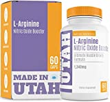 L-Arginine Nitric Oxide Booster, Best Muscle Growth Formula with Essential Amino Acids to Build Muscle and Increase Energy Levels to Train and Workout Longer and Harder for Faster Results