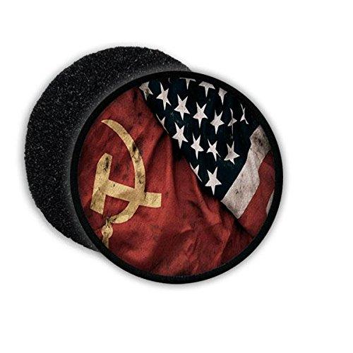 Copytec Patch Russia vs USA Russland Amerika Sowjetunion UDSSR CCCP Fahne Flagge Wappen Ost West DDR Aufnäher #21774