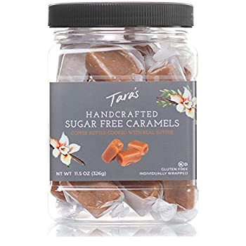 Tara s All Natural Handcrafted Gourmet Caramel  Small Batch Kettle Cooked Creamy & Individually Wrapped - Sugar Free 11.5 Oz