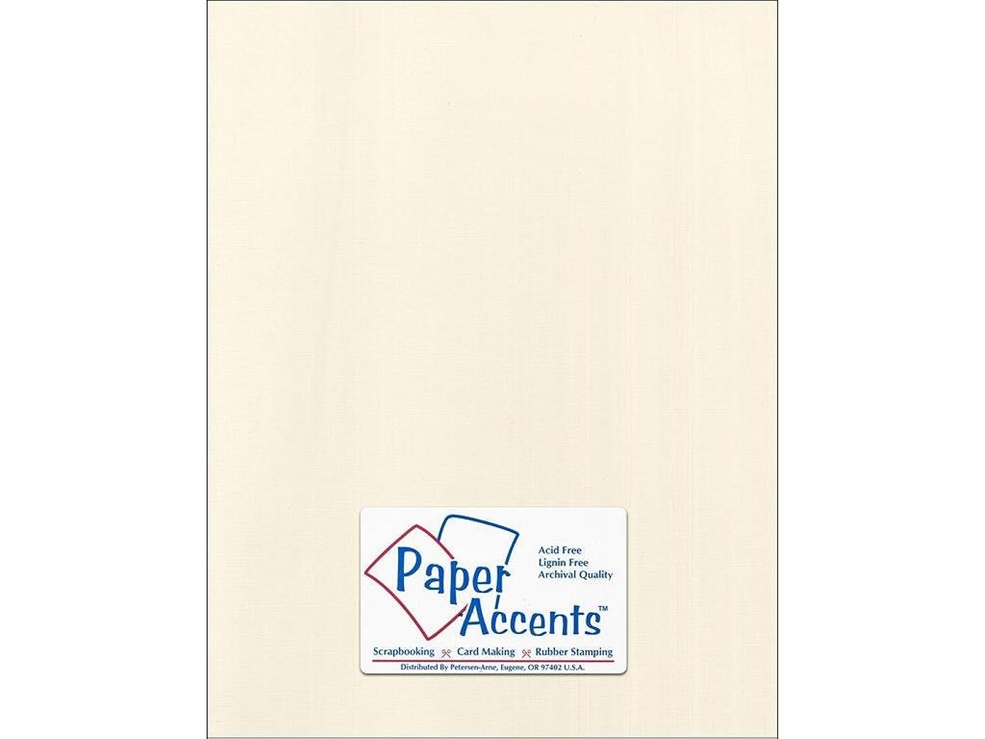 Accent Design Paper Accents Cdstk Canvas 8.5x11 80# Ecru
