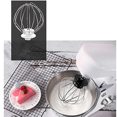 Safe Kitchen Electric Mixer Multifunction Desktop timing Egg Beater Electric Household Chef and Noodle Machine Cream Milk Cap Fresh Milk to Send Cake Stirrer Egg Beater BPA-Free (Color : White)