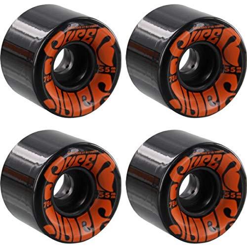 OJ Wheels Super Juice ミニブラックスケートボードホイール - 55mm 78a (4個セット)