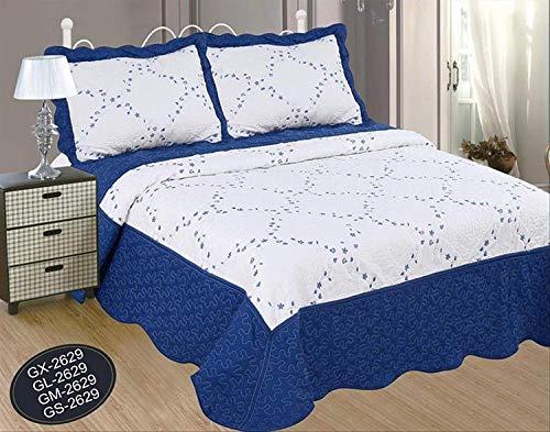 Forentex Colchas Bordado Cama 135 Decorativa Con Fundas Colchado Relleno Ligero Para Verano y Entretiempo, GM-2629, 235 x 260 cm, 3