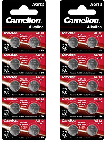 Camelion Alkaline Knopfzelle (AG13/LR44/357, 20-er Blister)