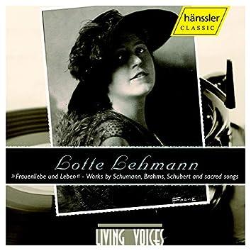 Lehmann, Lotte: Lieder Und Leben