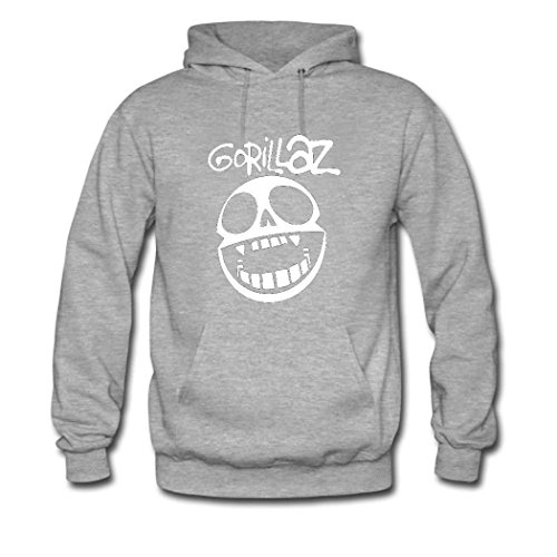 Lianfa Gorillaz Men's Sweatshirts, Personalized Hoodie Gorillaz Grey Medium