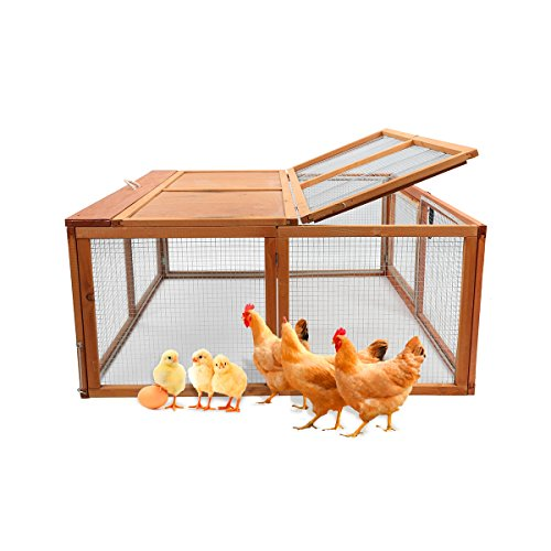 Magshion Spacious Wooden Chicken Coop Bunny Rabbit Hutch Pet Hutch Playpen House (Style 1)