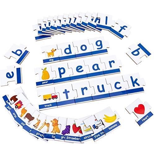 Gojiny Juego de cartas a juego, 90pcs Palabra Flash Cards Juguetes educativos de aprendizaje de actividades preescolares juego