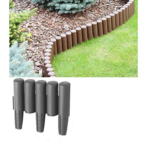 2,7m Palisade grau Beeteinfassung Beetumrandung Gartenpalisade Rasenkante
