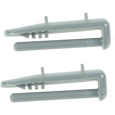 Beko Clip de fixation du capuchon du rail arrière du lave-vaisselle (lot de 2)