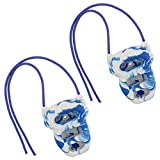 Get Out! Mini Hangboard Rock Climbing Fingerboard in Blue/White Swirl with Rope - Rock Rings for Strength Exercises
