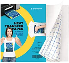 (20 Sheets) Heat Transfer Paper for T Shirts 8.5 x 11