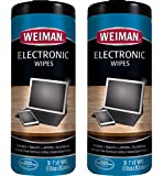 Weiman Electronic Wipes - Non Toxic Safely Clean Your Laptop, Computer, TV, Phone, and Tablet Screens - All Electronic Equipment - Electronic Cleaning Wipes - 30 Count (2 Pack)