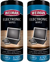 Weiman Electronic & Screen Cleaning Wipes - Safely Clean Your Phone, Laptop, Computer, TV Screen, Computer Monitor, Tablets, Lens Wipes, Safe Cleaner for All Screens - Streak Free - 30 Count | 2 Pack