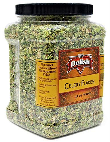 Dried Celery Flakes by It's Delish, 12 OZ Jumbo...