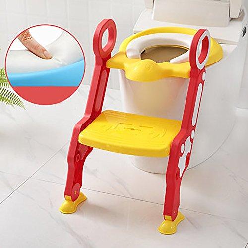 Escabeau de toilette pour enfants adapté aux enfants de 1 à 7 ans. C'est sûr, non-toxique et facile à plier. Favoriser l'habitude de votre bébé d'utiliser les toilettes indépendamment. Cinq couleurs sont facultatives.