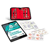 Kit de Sutura Cirugía Menor | Guía completa de entrenamiento formato eBook en Español | Díptico con las principales suturas y técnicas de anudado | Set de Suturas quirúrgicas | Curso Online