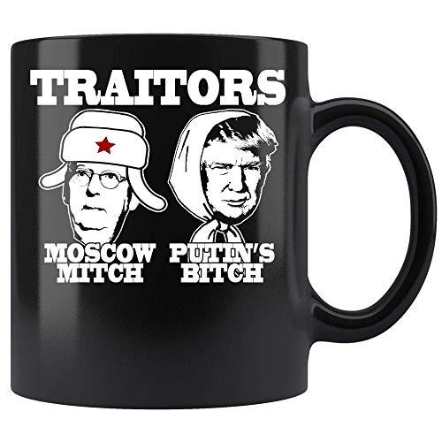 TRAITORS MOSCOW MITCH PUTIN'S BITCH Ditch Russia Trump Meme Coffee Mug 11oz Tea Cups Present N5TD