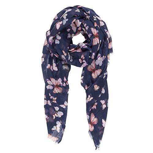 Scarf for Women Lightweight Animal Butterfly Fashion Fall Winter Scarves Shawl Wraps (NF09-2)
