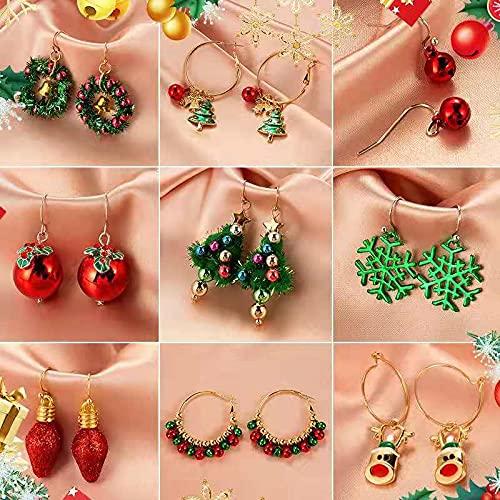 YIXINYOUPIN 23 PCS Helix Hoop Pendientes, Perno de Zirconia, Acero Inoxidable, aro Fino, aretes de aro, Pendientes, la Pesadilla Antes de Navidad, Pendientes de Navidad