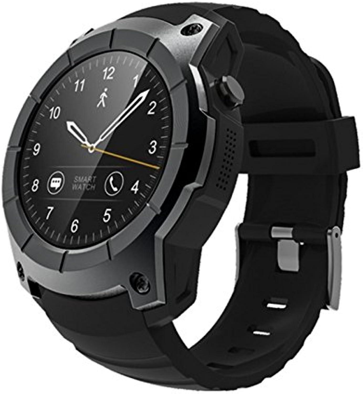Timagebreze S958 Kompatibel mit Android iOS Handys Smart Watch Sport Wasserdicht Herzfrequenz Monitor GPS 2G SIM Karte Kommunikation Fashion Smart Watch Schwarz