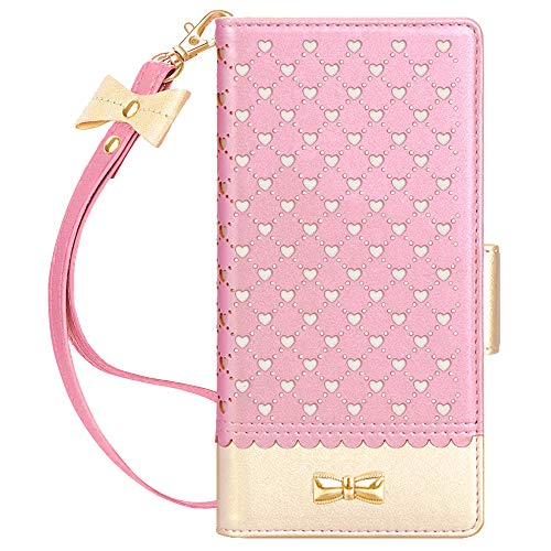 Jasilon Samsung Galaxy Note 20 6.7' 5G Wallet Case, [Deluxe Love] Handmade Flip Folio Wallet Case with [Mirror] [Kickstand Feature] Leather case for Samsung Note 20 6.7-inch 2020 Released-Rosegold